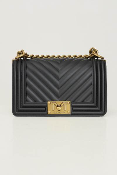 MARC ELLIS Borsa flat s donna nero marc ellis con tracolla fissa in catena e tessuto  Borse   FLATSBLACK/OTTONE