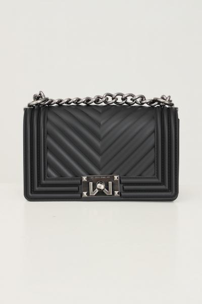 MARC ELLIS Borsa flat s donna nero marc ellis con tracolla fissa in catena e tessuto  Borse   FLATSBLACK/PALLADIO