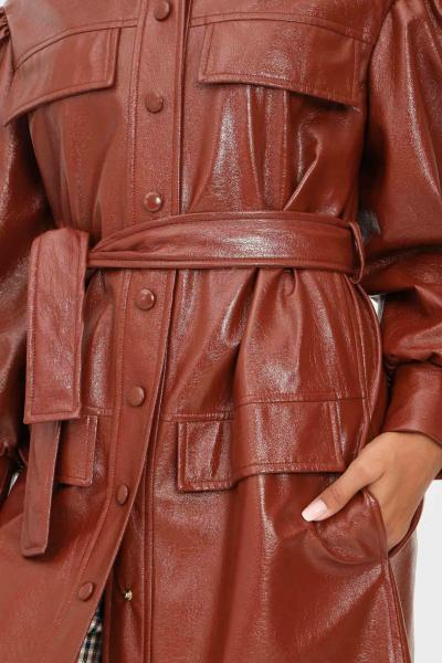 MATILDE COUTURE Abito trench rame donna matilde couture effetto spalmato con ciappe  Abiti | AMSTERDAM.MORO