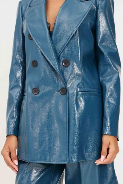 MATILDE COUTURE Giacca ottanio donna matilde couture ad effetto spalmato  Giacche | GLAMVERNICE.OTTANIO