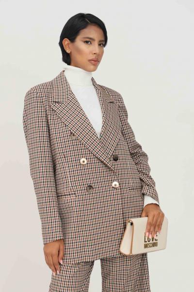 MATILDE COUTURE Giacca fantasia donna matilde couture con spalline e bottoni  Giacche | GLAMVICHY.MORO