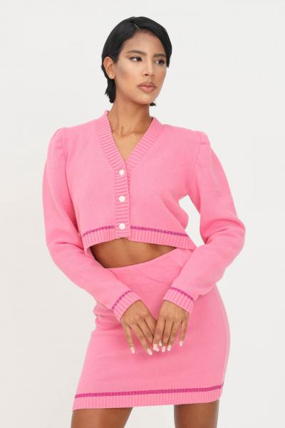 MATILDE COUTURE Cardigan rosa donna matilde couture con bottoni  Cardigan | MARGOT.ROSA