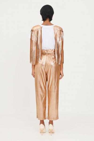 MATILDE COUTURE Pantaloni oro donna matilde couture con cintura in vita  Pantaloni | PEONIA..