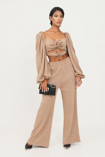 MATILDE COUTURE Pantaloni cammello donna matilde couture in lurex  Pantaloni | PIA.CAMM.