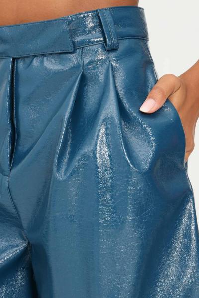 MATILDE COUTURE Shorts ottanio donna matilde couture ad effetto spalmato  Shorts | POPVERNICE.OTTANIO