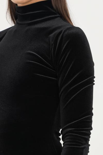 MATINèE Abito donna nero matinèe corto a collo alto in velluto  Abiti | DP2002NERO