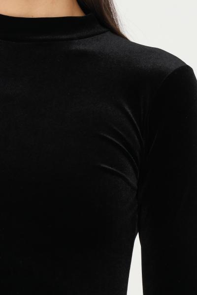 MATINèE Body nero firmato matinèe in velluto, taglio aderente a collo alto  Body | DP2005NERO