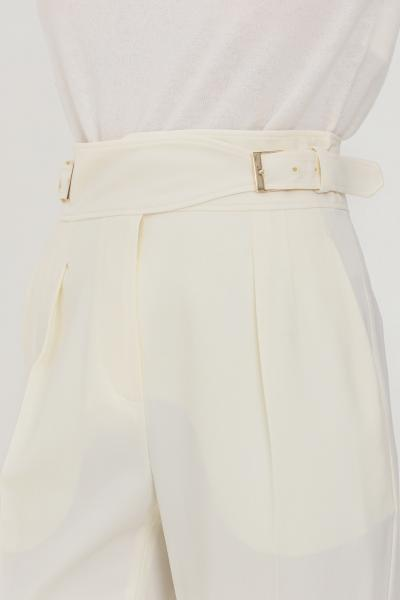 MAX MARA Pantaloni donna avorio max mara elegante con finta cintura in vita  Pantaloni | 61360113600001