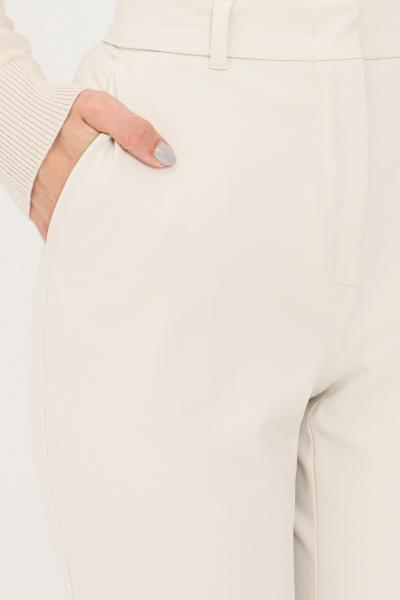 Pantaloni donna avorio elegante slim fit  Pantaloni | 61361019600001