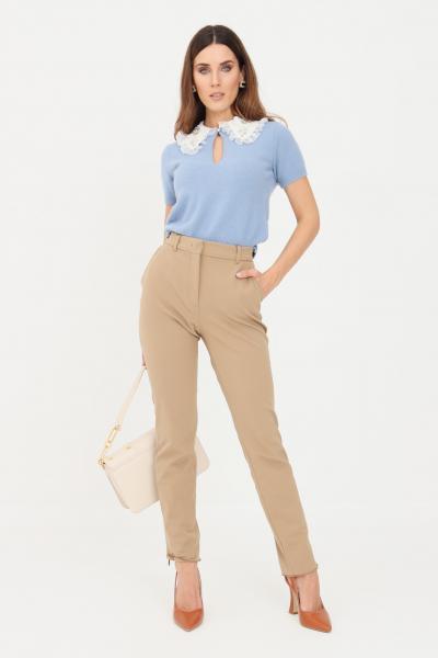 Pantaloni donna cammello casual slim fit  Pantaloni | 61361019600002
