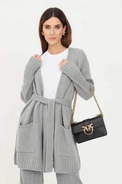 MAX MARA Cardigan donna grigio max mara in lana con cintura  Cardigan | 63460619600004