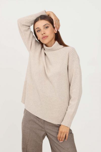 MAX MARA Maglioncino donna beige max mara a collo alto  T-shirt | 63660613600004