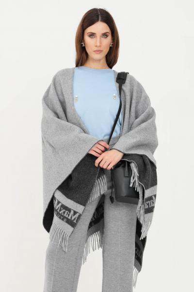 Mantella donna grigio senza chiusure e frange inferiori  Giacche | 67360219600001