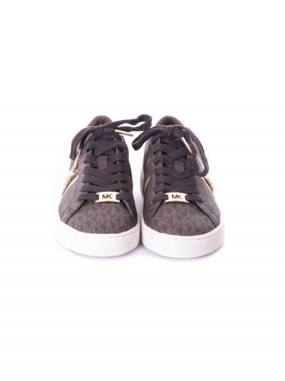 Sneakers donna in pelle marrone.  scarpe | 43F1IRFS2B200