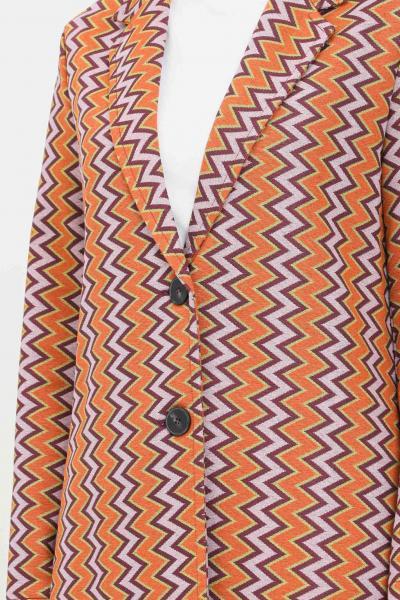 MISSONI Cappotto donna arancio lilla missoni taglio lungo  Cappotti | 2DA00049S205O