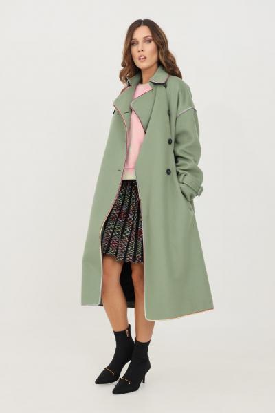 MISSONI Cappotto donna verde missoni taglio lungo  Cappotti | 2DA0005176212