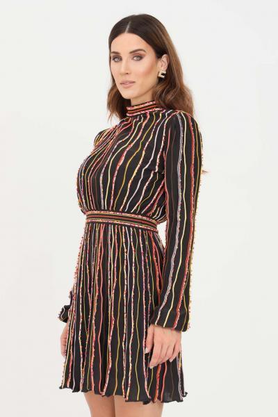 MISSONI Abito donna nero missoni con ricami verticali multicolor  Abiti | 2DG00689S808V