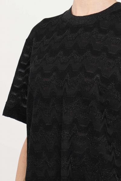 MISSONI Maglia donna fantasia nero missoni girocollo a manica corta  T-shirt | 2DK00106L904C