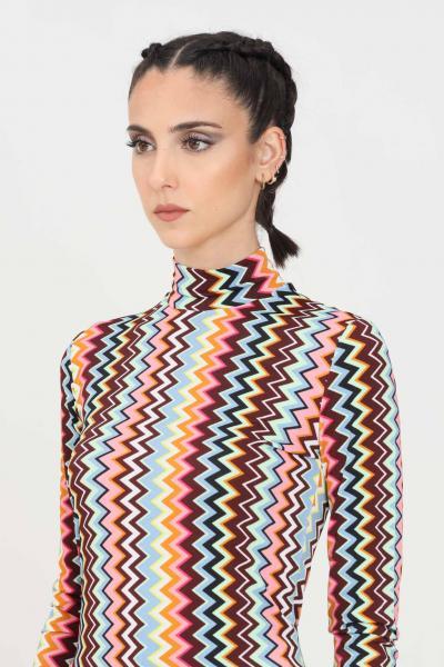 MISSONI Maglia donna multicolor missoni a collo alto modello fine  T-shirt | 2DK00110SM59B