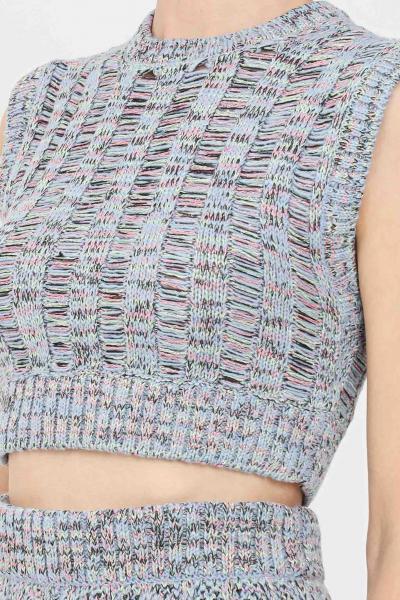 MISSONI Top in maglia donna fantasia missoni modello smanicato  Top | 2DK00112L7047