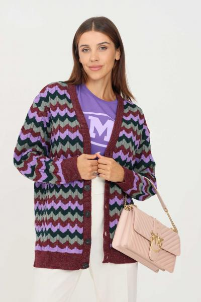 MISSONI Cardigan donna multicolor missoni con trama geometrica  Cardigan | 2DM00188SM59Z