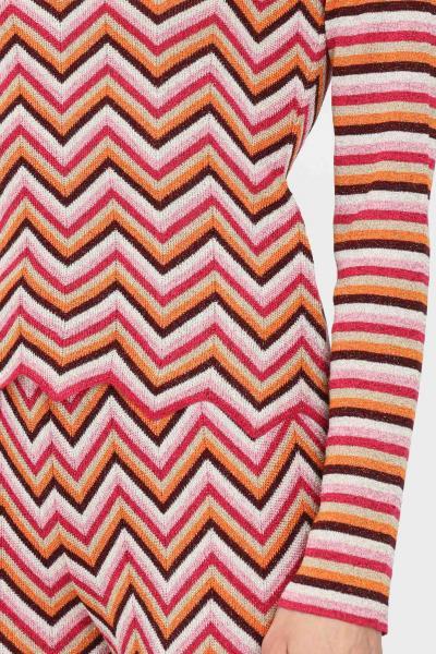 MISSONI Maglia donna multicolor missoni modello girocollo con stampa allover  T-shirt | 2DN00367L303F
