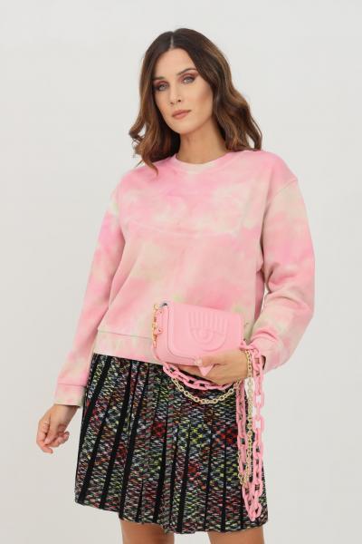 MISSONI Felpa donna rosa missoni modello girocollo in tie dye  Felpe | 2DW00015S3095