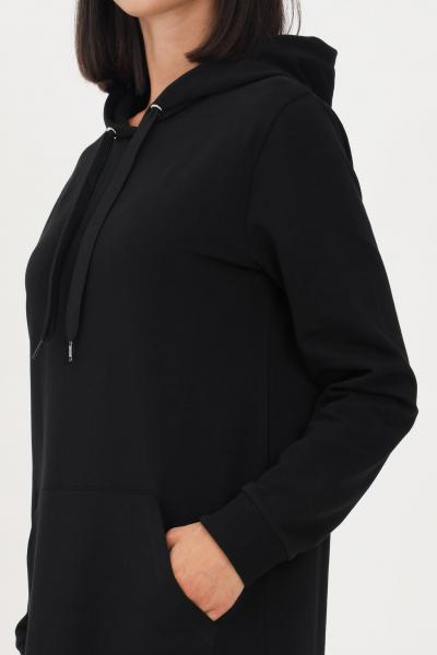 MOSCHINO Abito donna nero moschino corto con banda logata sul fondo  Abiti   A174190040555
