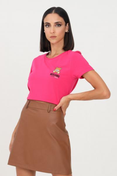 MOSCHINO T-shirt donna nero moschino con logo sul fronte  T-shirt   A191290030210