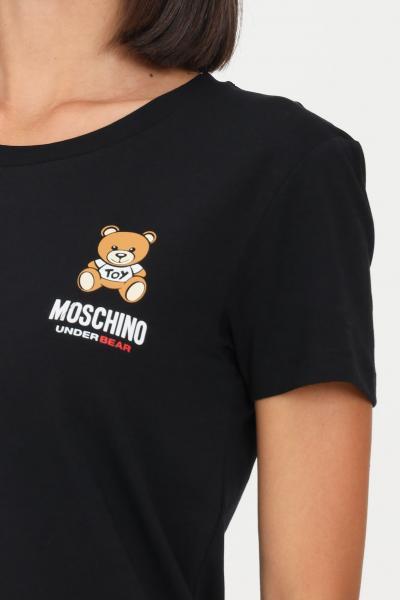 MOSCHINO T-shirt donna fuxia moschino con logo sul fronte  T-shirt   A191290030555