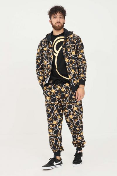 MOSCHINO Pantaloni uomo nero moschino modello casual con stampa allover  Pantaloni   A431381081555