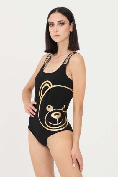 Body donna di colore nero con rifiniture glitter oro  Body   A600490100555