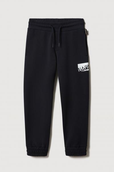 NAPAPIJRI Pantaloni bambino unisex nero napapijri con logo a contrasto  Pantaloni | NP0A4FP217611761