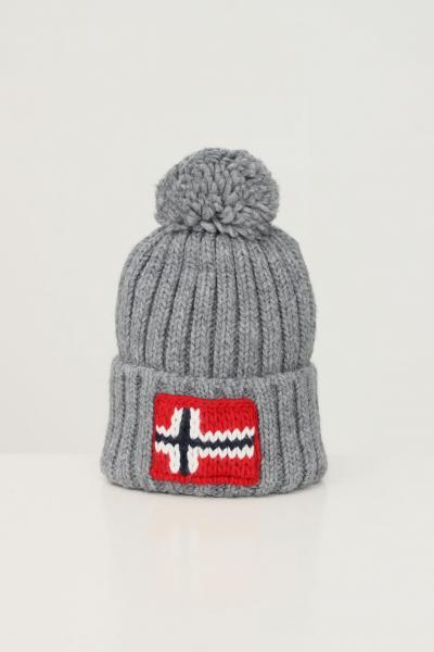NAPAPIJRI Cappello unisex grigio napapijri con ricamo logo frontale  Cappelli | NP0A4FRT16011601