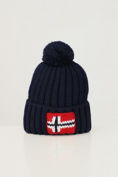 NAPAPIJRI Cappello unisex blu napapijri con ricamo logo frontale  Cappelli | NP0A4FRT17611761
