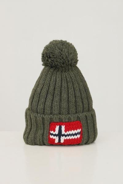 NAPAPIJRI Cappello unisex verde militare napapijri con ricamo logo frontale  Cappelli | NP0A4FRTGE41GE41