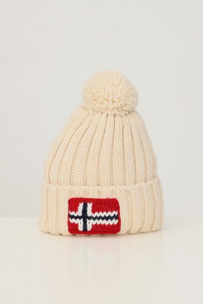 Cappello unisex crema con ricamo logo frontale  Cappelli | NP0A4FRTNS51NS51