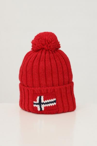 NAPAPIJRI Cappello unisex rosso napapijri con ricamo logo frontale  Cappelli | NP0A4FRTR171R171