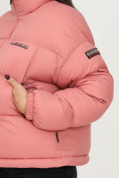 NAPAPIJRI Piumino box puffer da donna rosa napapijri con logo frontale a contrasto  Giubbotti | NP0A4FS2PB11PB11