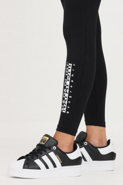 NAPAPIJRI Leggings donna nero napapijri con banda elastica logata  Leggings   NP0A4FSJ04110411