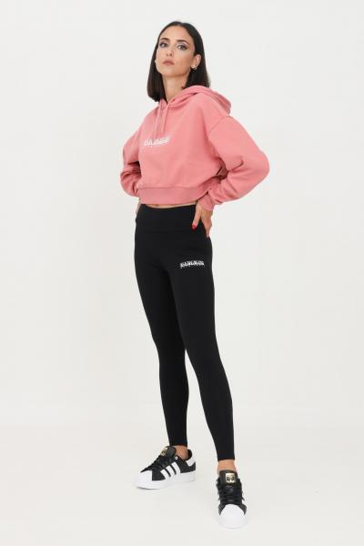 NAPAPIJRI Leggings donna nero napapijri con logo a contrasto  Leggings | NP0A4FV604110411