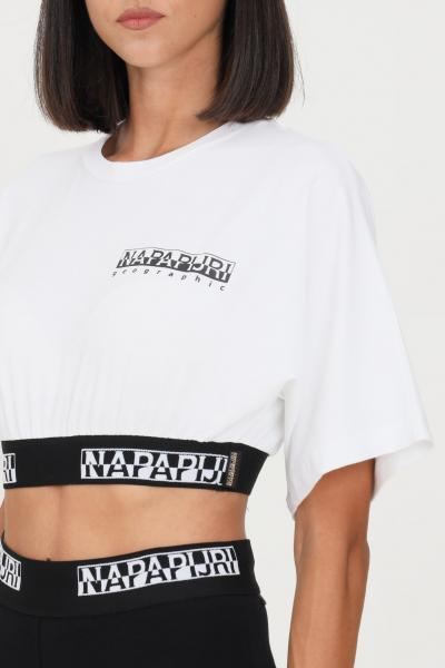 NAPAPIJRI T-shirt donna bianco napapijri a manica corta  T-shirt | NP0A4FVB00210021
