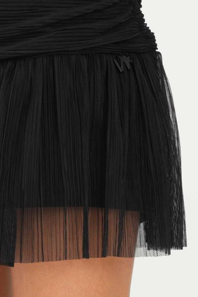NBTS Gonna shorts donna nero nbts corta con arricci e trasparenze  Gonne | NB2122042NERO