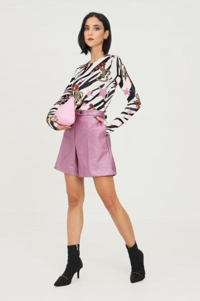 NBTS Shorts donna viola nbts casual in ecopelle  Shorts | NB2122076ORCHIDEA