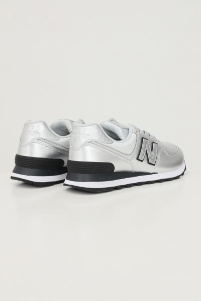 NEW BALANCE Sneakers donna new balance 574 argento  Sneakers   WL574PN2SILVER