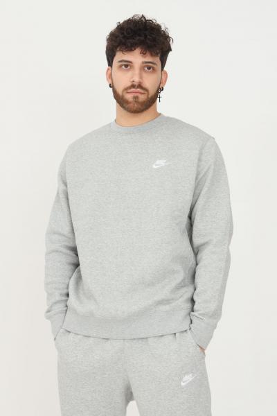 NIKE Felpa nike sportswear club fleece uomo grigio modello girocollo  Felpe | BV2662063