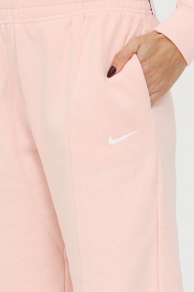 NIKE Pantaloni fleece sportsweare essential donna rosa nike sport con logo a contrasto  Pantaloni | BV4089864