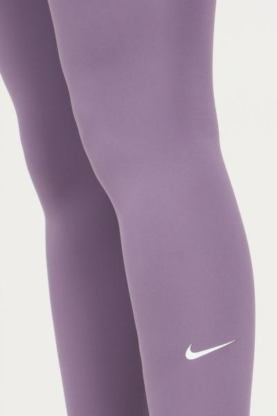 NIKE Leggings donna viola nike modello slim con logo a contrasto sul fondo  Leggings | DD0252574