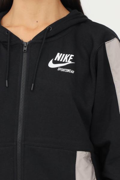 NIKE Felpa nike sportswear heritage donna nero nike  Felpe | DD5671010