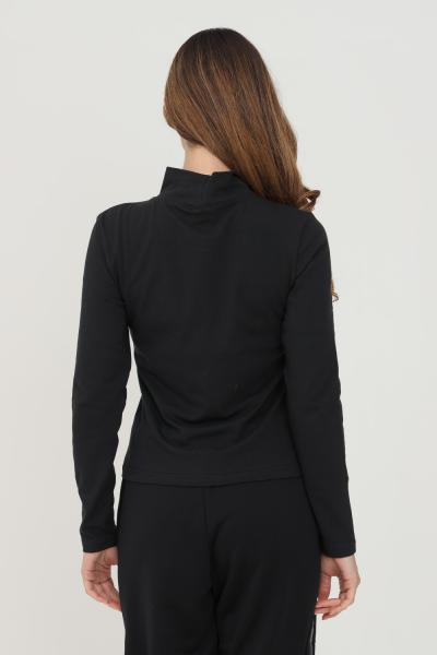 NIKE T-shirt donna nero nike a manica lunga con ricamo logo frontale  T-shirt   DD5882010